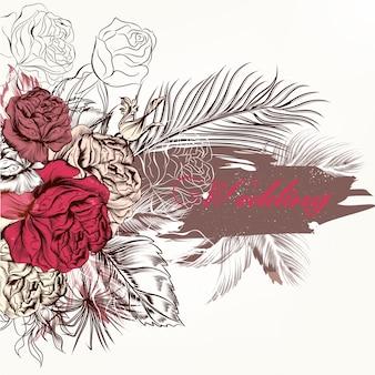 Diseño de fondo floral