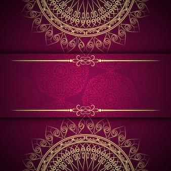 Diseño de fondo hermoso abstracto de mandala