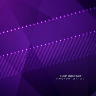 Diseño de fondo poligonal de color morado