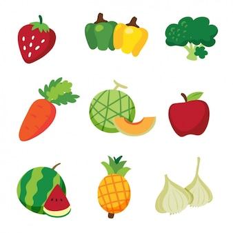 Diseño de frutas y verduras