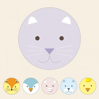 Diseño de gato a color