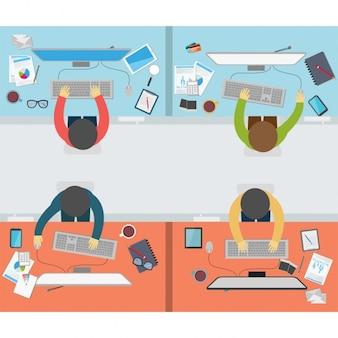 Diseño de gente trabajando