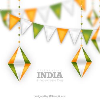 Diseño de guirnaldas para el día de la independencia de la india