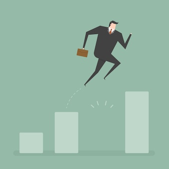 Diseño de hombre de negocios saltando