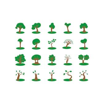 Diseño de iconos de árbol
