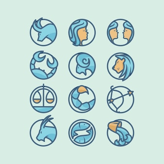 Diseño de iconos de horóscopo
