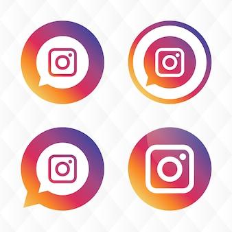 Diseño de iconos de instagram