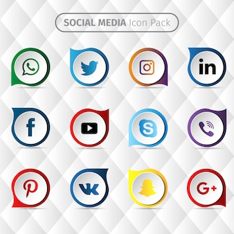 Diseño de iconos de redes sociales