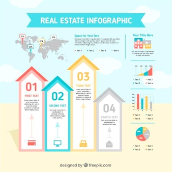 Diseño de infografía de inmobiliaria