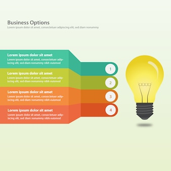 Diseño de infografía de negocios