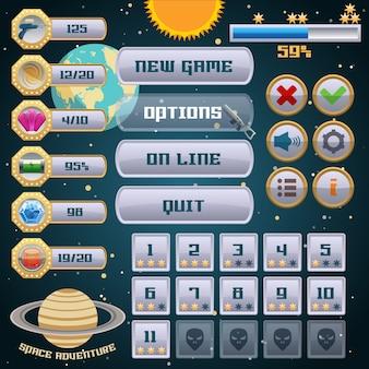 Diseño de interfaz de juego espacial