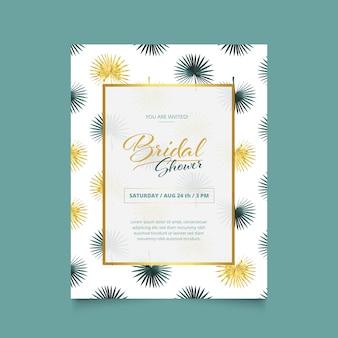 Diseño de invitación de bridal shower