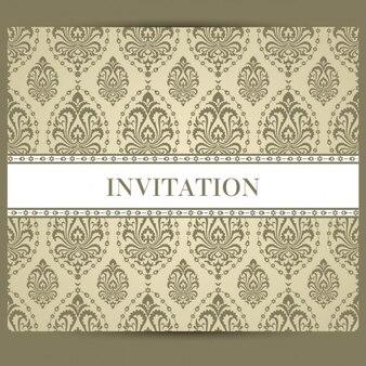 Diseño de invitación retro