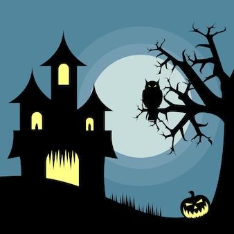 Diseño de la casa de Halloween