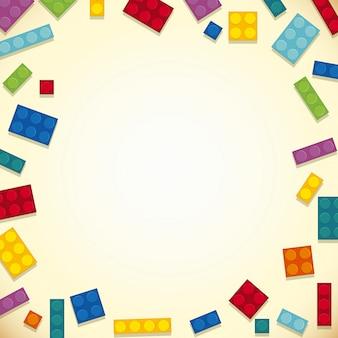 Diseño de la frontera con bloques coloridos