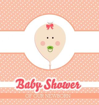 Diseño de la invitación de la fiesta de bienvenida al bebé