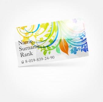 Diseño de la onda tarjeta de visita de la bandera
