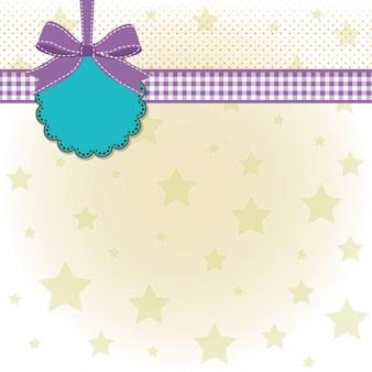 Diseño de la plantilla con las estrellas para la bienvenida del bebé