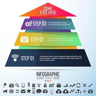 Diseño de la plantilla de infografías geométricas