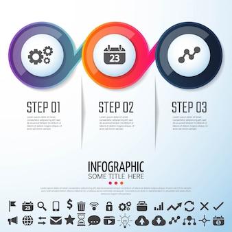 Diseño de la plantilla de Infographics de círculo