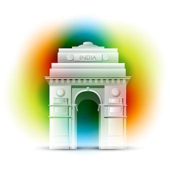 Diseño de la puerta de la india para el día de la independencia de la india