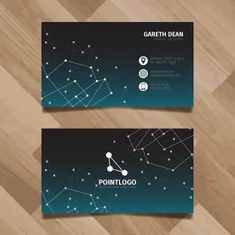 Diseño de la tarjeta de negocios Tecnología