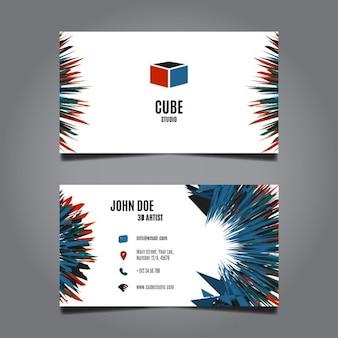 Diseño de la tarjeta de visita abstracta