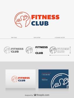 Diseño de logotipo de club de fitness