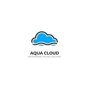 Diseño de logotipo de nube