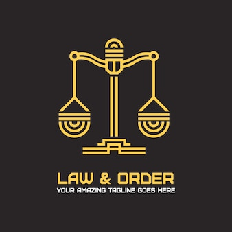 Diseño de logotipo oscuro de abogado