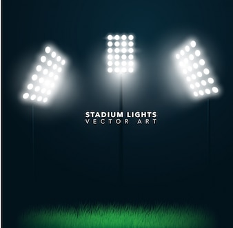 Diseño de luces de estadio