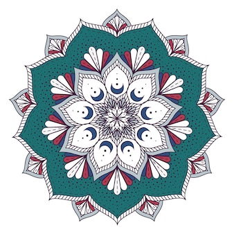 Diseño de mandala a color