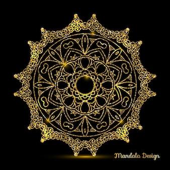 Diseño de mandala de oro