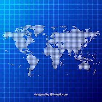 Diseño de mapamundi con puntos
