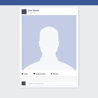 Diseño de marco de foto de red social