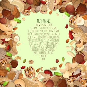 Diseño de marco de frutos secos