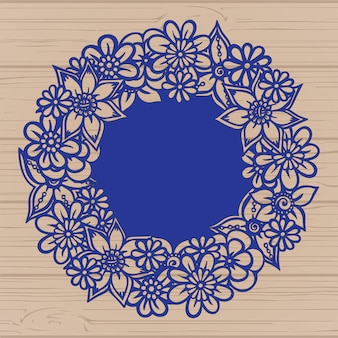Diseño de marcos florales
