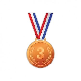 Diseño de medalla de bronce