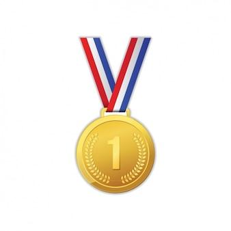 Diseño de medalla de oro