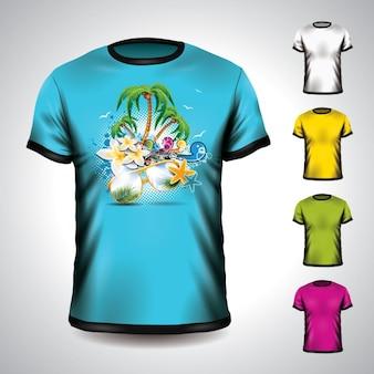 Diseño de mock up de camiseta