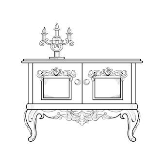 Diseño de mueble elegante
