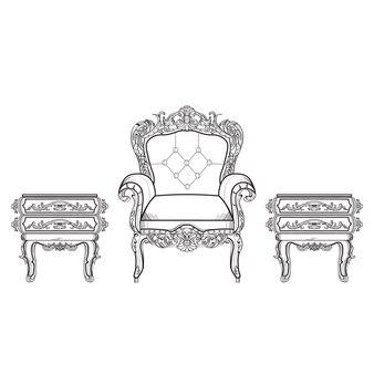 Diseño de muebles decorativos