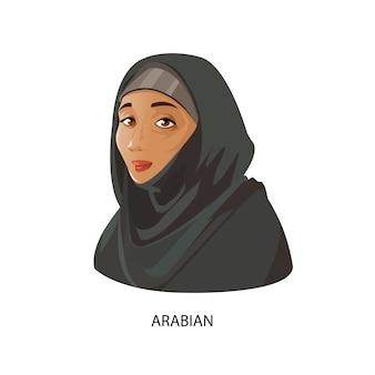 Diseño de mujer árabe