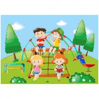 Diseño de niños jugando