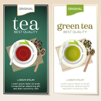 Diseño de panfletos de té