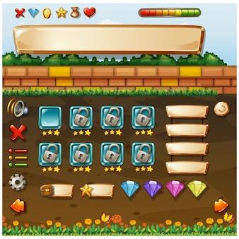Diseño de pantalla de videojuego
