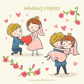 Diseño de parejas de boda