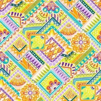 Diseño de patrón a color