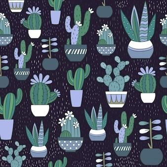 Diseño de patrón cactus
