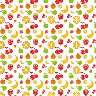 Diseño de patrón colorido de frutas
